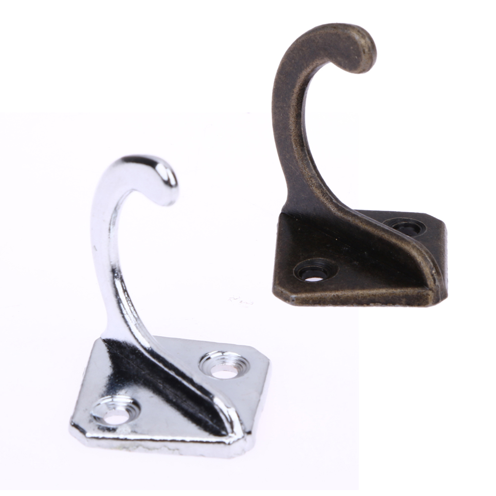 5pcs 5X Metal Handle Stainless Steel Handle Drawer Hanger Hook Coat Bag Hat Hanger Wall Hanging Hooks Home Wall Holder