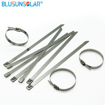 500pcs A Lot Hot Sale 37 Inch 4.6mm X 950mm Thickness 2.5mm Best 304 Grade Colorful Self Locking Stainless Steel Cable TiesSolar