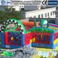 FRETE GRÁTIS POR MAR Novo Design Curso de Obstáculo Inflável Castelo Insuflável Para Venda
