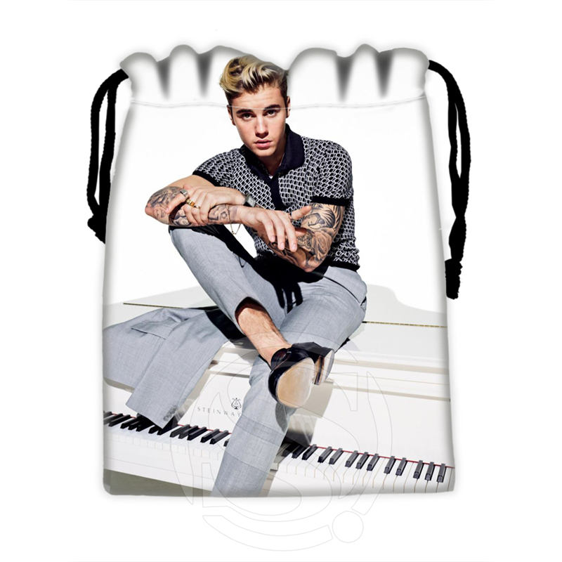 H-P739 Custom Justin Bieber#6 Drawstring Bags For Mobile Phone Tablet PC Packaging Gift Bags18X22cm SQ00806#H0739