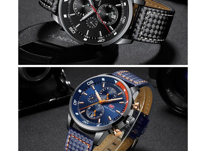 Watches Men 2019 Luxury Brand MINI FOCUS Quartz Fashion Leather Watch Man Chronograph Male Wristwatch Men relogio masculino 2018 (12)