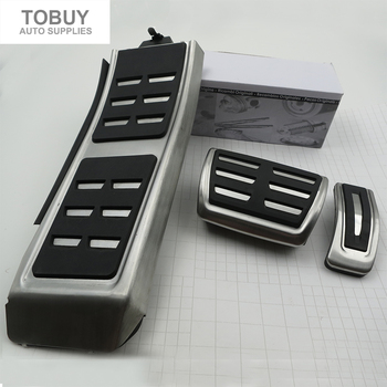 DEE Gas Brake Foot Rest Fuel Pedals For AUDI S4 RS4 A5 S5 RS5 8T A6 4G S6 (C7) Q5 S5 RS5 A7 S7 SQ5 8R LHD 2009 + pad Car Sticker