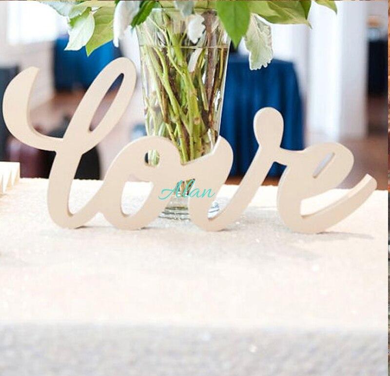 Любовь Знак для Свадьбы или Декор Таблице Знак в Шрифта Каллиграфии-знак для Милая Таблица Декора-Любовь Знак для Таблицы Decorwhite
