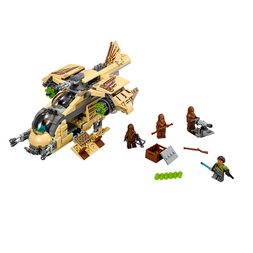 569Pcs Star Wars 7 Wookiee Gunship War Model Building Block Toys BELA 10377 Educational Gift For Children Compatible Legoe 75084 бокорезы kraftool electro kraft 2202 5 16 z01