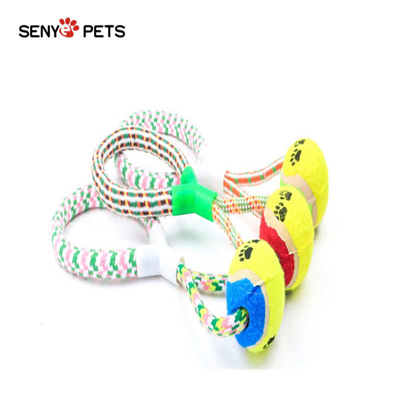SENYEPETS Cotton Ball Bone Knot Indestructible Dog Toys Aggressive Chewers Durable Rope Braided Ball Dog Puppy PPT139