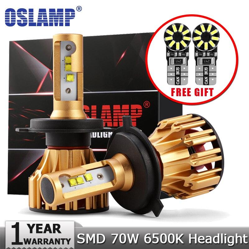 Oslamp H4 H7 H11 9005 9006 LED Farol Do Carro Lâmpadas SMD Chip 70 W 7000LM 6500 K 12 v 24 v Auto Levou Farol Faróis de Nevoeiro Lâmpada