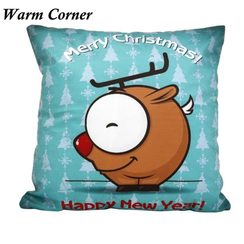 2017 New Arrival So Hot Square Vintage Christmas Santa Soft Pillow Case Halloween Free Shipping Sept 23