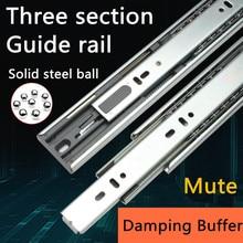 1 Pair HG90V Hydraulic Damping Buffer Furniture Slide Full Extension Drawer Track Slide Guide Rail accessories