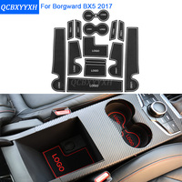 13Pcs/Set Car Styling Slot Pad Interior Door Groove Mat Latex Anti-Slip Cushion For Borgward BX5 2017 Car Internal Dedicated