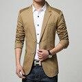 5XL Plus Size Mens Blazer Trajes Patrón Importado de Alta Calidad de la Marca Famosa Chaqueta Formal Slim Fit Blazer Masculino Casual Q22