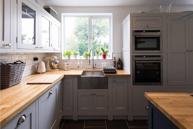 US $120.0 |2019 top antico disegno di mobili da cucina in legno massiccio  con 18 millimetri di compensato carcassa e 20 millimetri di legno di  quercia ...