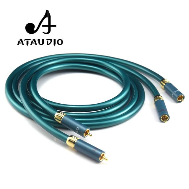 ATAUDIO Hifi كابل RCA مرحبا نهاية CD مكبر للصوت الربط 2RCA إلى 2RCA ذكر كابل الصوت 1 متر 2 متر