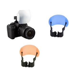 1Set New Pop-Up Flash Diffuser Cover for DSLR SLR Camera Canon Nikon 3 Colors(China)