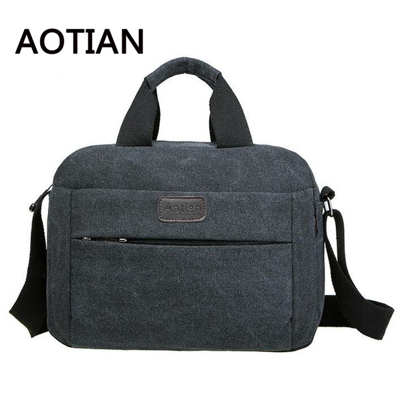 2017 High Quality New Men Messenger Business Bag Casual Multifunction Small Travel Bags Canvas Shoulder Crossbody Bags