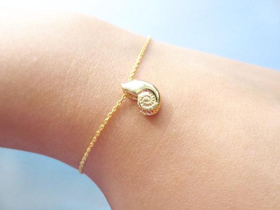10PCS- Roztomilý náramek s mušlí Spirála Swirl Sea Šnek náramek Ariel Voice Shell náramky Ocean Beach Conch Náramky