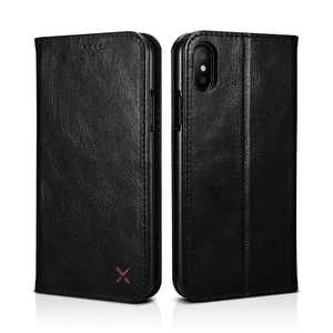 Image 2 - Orijinal XOOMZ hakiki deri cüzdan kılıf iPhone XS için XR XS MAX lüks Vintage mıknatıs Flip kapak telefon kılıfı için iPhone X durumda