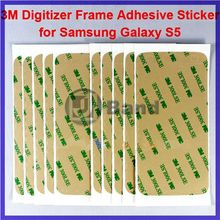 10pcs/lot Wholesale New Arrival 3M Pre-Cut Digitizer Frame Adhesive sticker For Samsung Galaxy S5 S V i9600 G900 Free shipping