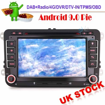 7Android 9.0 Autoradio Sat Nav GPS DAB+ Car stereo OPS For VW Passat Golf 5/6 Touran Seat Altea Skoda WiFi 4G Radio DVD image