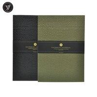 Victoria der Zeitschriften Soho Pad Notizblock Gefüttert Journal Notebook Brunnen Stift Spanisch Creme Papier 80gsm