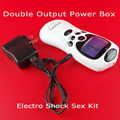 Deluxe Double Output Electro Shock Sex Play Kit Power Box Electrosex USB Charger ElectroSex Gear Electrical Muscle Stimulator