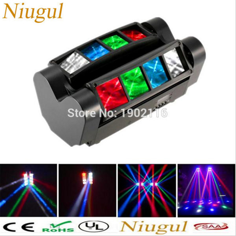 Niugul High quality 8X10W Mini Led Spider Light DMX512 LED Moving Head Light led Beam club