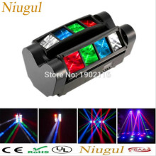 Niugul High quality 8X10W Mini Led Spider Light DMX512 LED Moving Head Light led Beam club dj disco lighting KTV lamps RGBW Beam