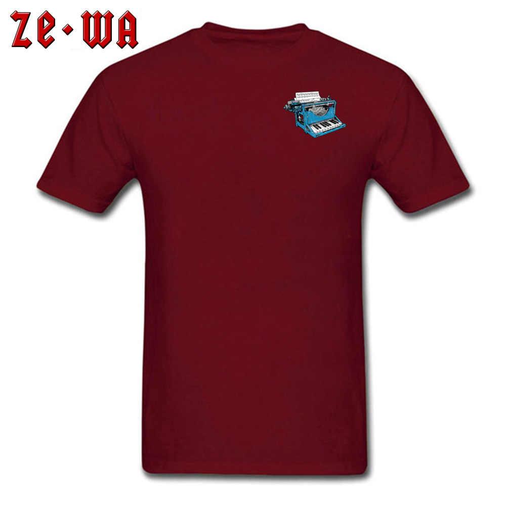 Klavier Punktzahl Mitarbeiter Musik Maschine T Shirts Mens Vintage Style Mode Kurzarm Print T-shirt Homme t-shirt T-Shirts Männer