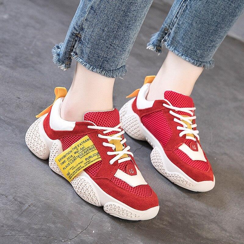 59ab0b26d476a2 D'hiver À Plate Gris Mode Semelles Bling forme Mélangées De Vulcaniser  Lacets Pour Chaussures Couleurs Femmes Épaisses Femelle Décontracté Croix  Sneakers ...