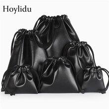 10 Pcs/Lot High Quality Custom Logo Bag PU Leather Drawstring Bags