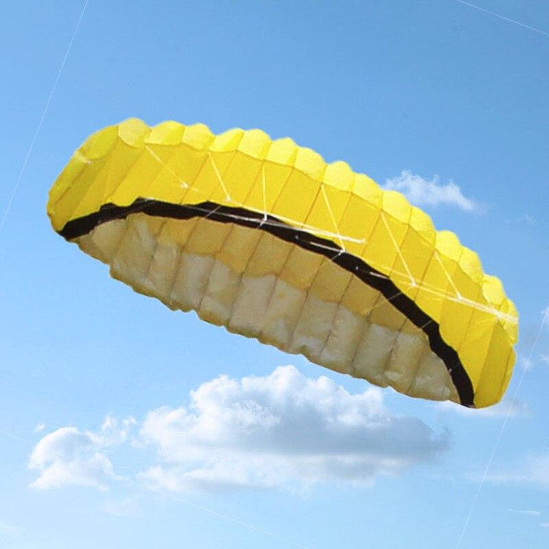 Free shipping dual line 2.5m Parafoil kites flying rainbow Sports Beach stunt kite with ripstop nylon outdoor kitesurf