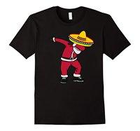 Dabbing Mexican Santa Claus Christmas Hat T Shirt Gift 2018 Summer New Brand Men Hip Hop Men T-Shirt Casual Fitness