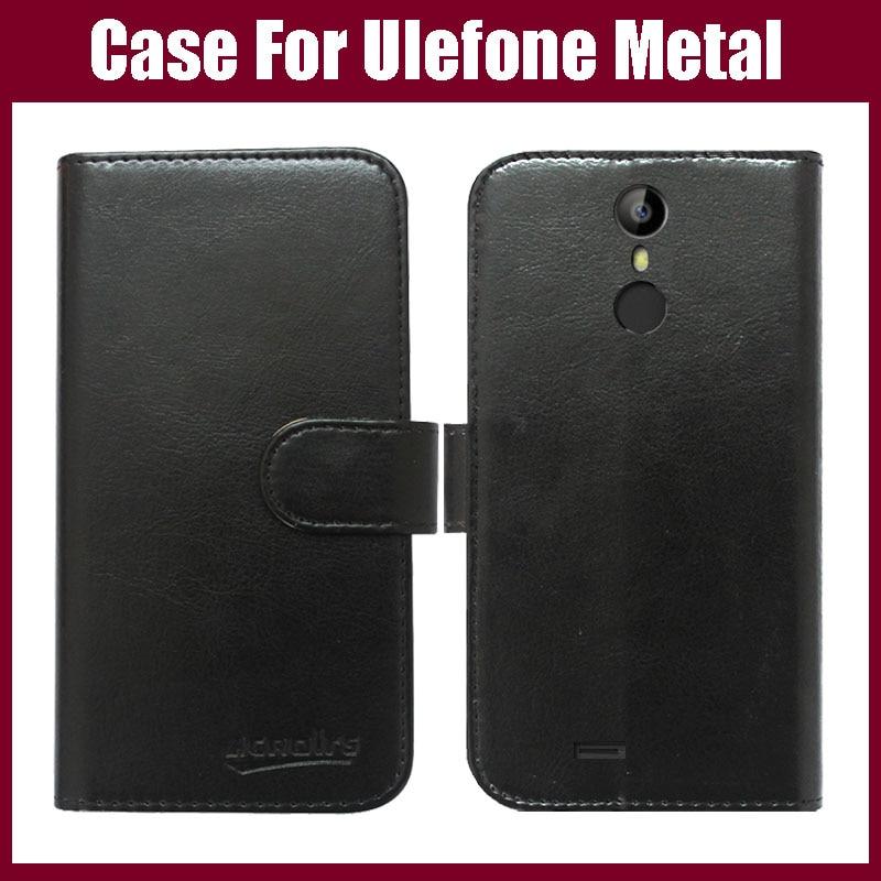 Žhavá sleva! Ulefone kovové pouzdro, 6 barev vysoce kvalitní módní Flip kožené ochranné pouzdro pro Ulefone kovový kryt telefonní taška