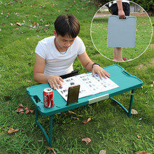Outdoor Portable Folding Laptop Table/Camping Picnic Barbecue Dining Table/Kids Study Game Desk For Bed/Simple PVC Coffee Table(China)