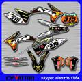 FREE SHIPPING 3M RACING TEAM GRAPHICS ORANGE BACKGROUND DECALS STICKERS KITS FOR KTM SX  SXF 125 150 250 350 450 11 12