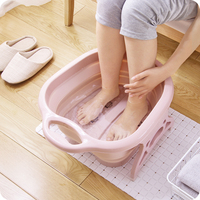 vanzlife Collapsible plain foaming massage bucket Plastic foot bath basin large heightening footbath fording barrel