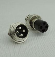 50 pair = 100 pcs 4 핀 16mm male & female 와이어 패널 커넥터 키트 gx16 소켓 + 항공, 컴퓨터 요법 용 플러그.