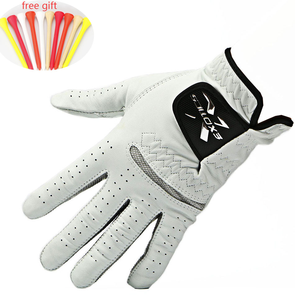 Golf gloves Men's Left Hand Soft Breathable Golf Gloves Pure Sheepskin Golf Gloves free shipping 2016 new womens golf tshirts branded high quality dobby long sleeve breathable s 2xl 4 colors golf sport clothing free shipping
