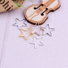 1pc Five pointed star brass ring geometric pattern border star seamless single turn manual diy accessories