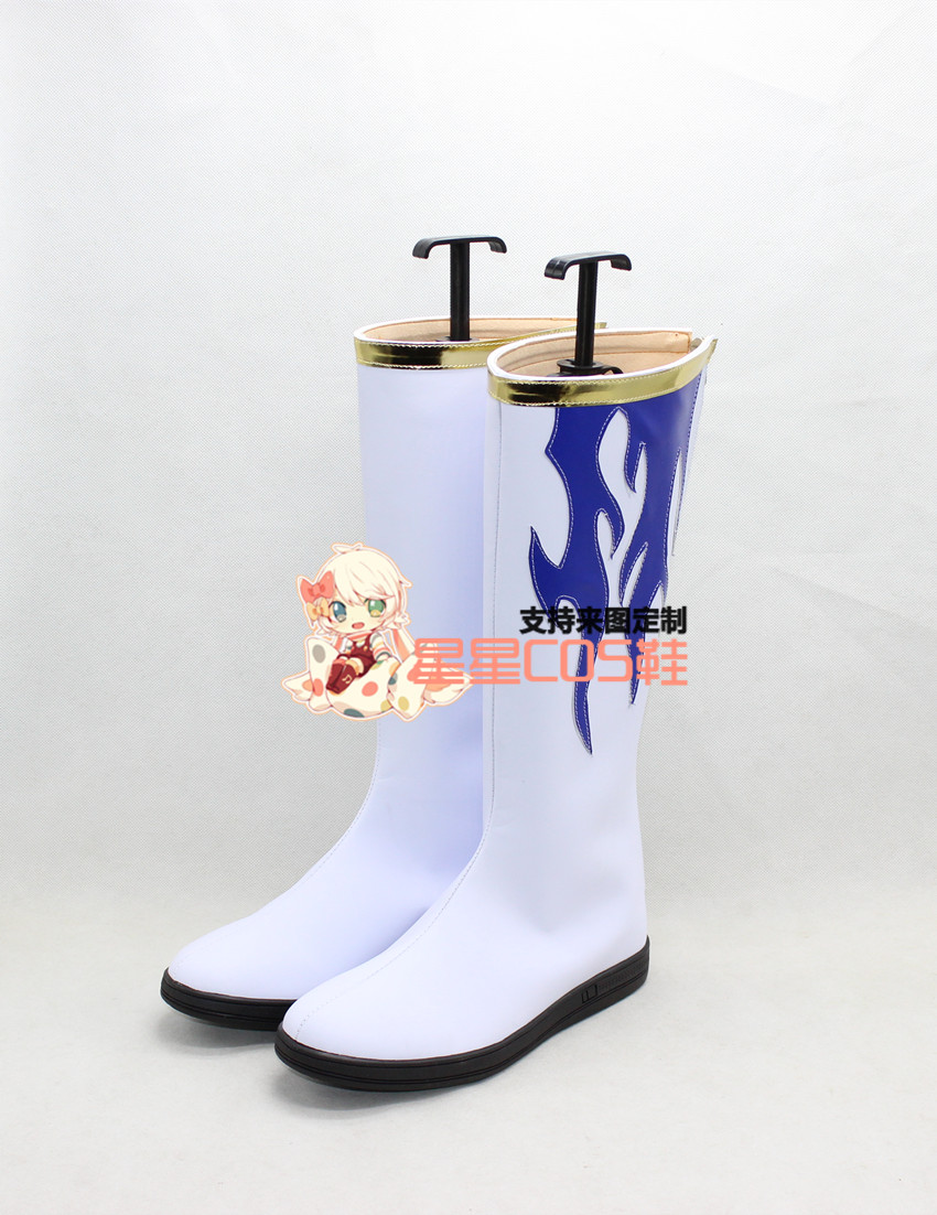 Tsubasa Ri Syaoran Adult Purple White Halloween Cosplay Shoes Boots X002