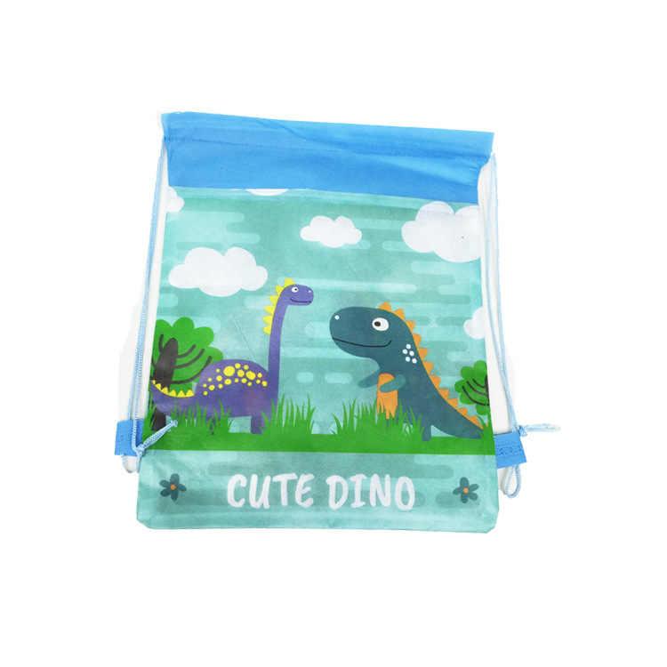 1pc Cartoon דינוזאור שרוך תרמילים בגדי נעלי אחסון בית ספר שקיות מתנות ילדי ארגונית פאוץ שק כביסה