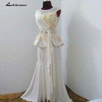 2018 New Design Chiffon Mermaid Wedding Dresses Appliques Elegant Wedding Dress Bridal Gowns Vestido De Noiva