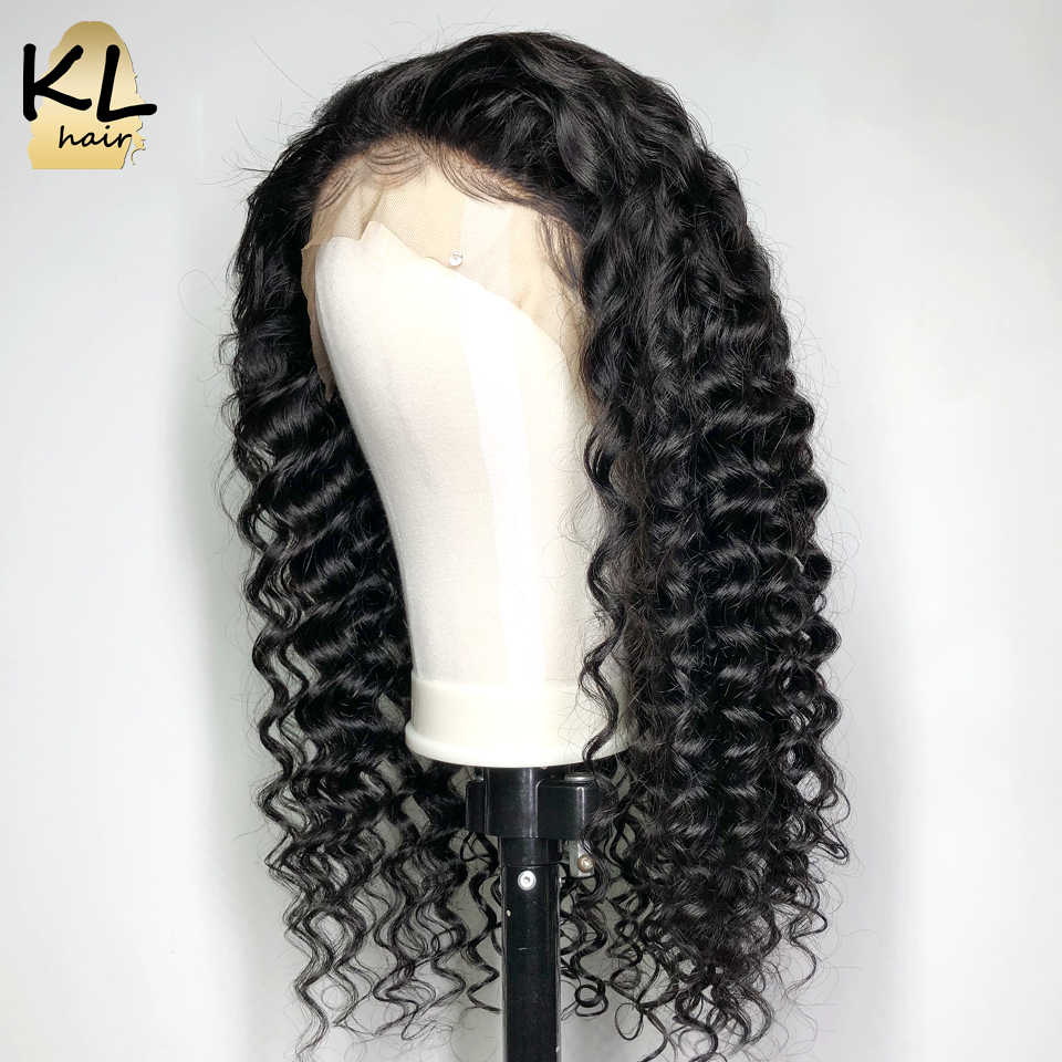 KL Lace Front Human Hair Wigs For Black Women Brazilian Remy Hair Pre Plucked Hairline Deep