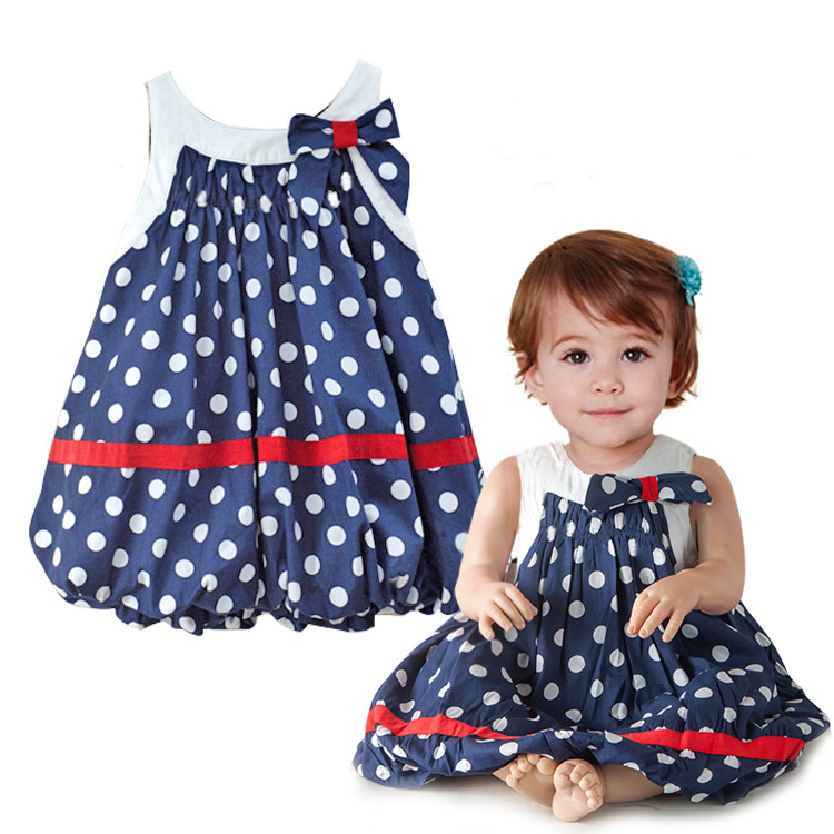 baby dress Picture - More Detailed Picture about Navy blue ...