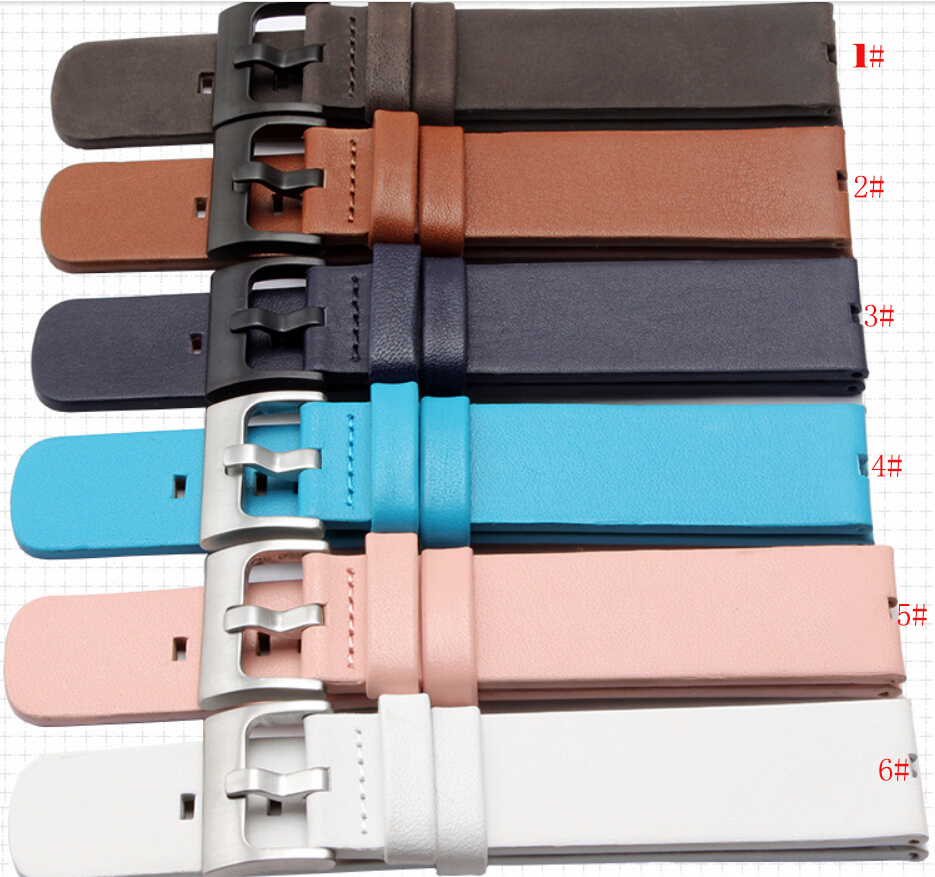 Colorful Replacement Watch Strap 22mm 100% Genuine Leather Watch Bands Bracelets For Motorola Moto 360 Smart Watch+Tool new mens genuine leather watch strap bands bracelets black alligator leather 18mm 19mm 20mm 21mm 22mm 24mm without buckle