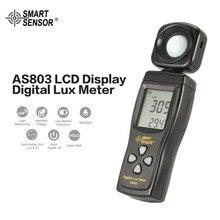 Умный датчик AS803 цифровой люксовый измеритель яркости лампа тестера 1-200000 Люкс инструменты фотометр спектрометр актинометр