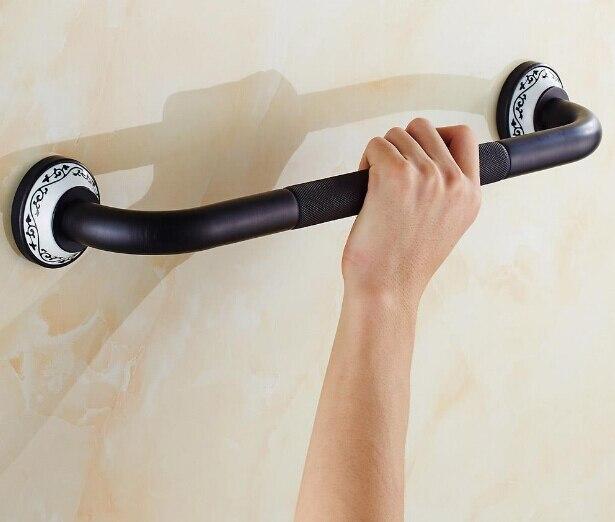 ФОТО New Antique Black Oil Brushed bathroom armrest anti-slip bathtub armrest handrail Grab Bars Brass Material Hand bar Safety bar