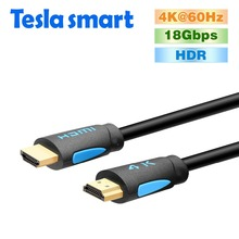 Tesla smart HDMI 2.0 4K@60Hz HDMI to HDMI Cable 1.5m 5ft HDMI Cable Adapter 3D for Xbox360 LCD PS3 PS4 projector computer