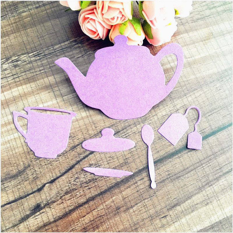 Tea table coffee table Metal Crafts Cutting Dies For DIY Scrapbooking Decorative Craft Photo Album Embossing DIY Paper Crad