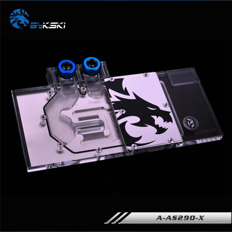Bykski Full Cover Graphics Card Block use for ASUS AMD R9-290X-DC2-4GD5 / R9-290-DC2-4GD5 Copper Radiator Water Block RGB