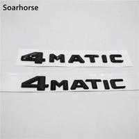 Soarhorse 블랙 ABS 4 매틱 문자 엠블럼 메르세데스 벤츠 AMG 4 매틱 3D 자동차 후면 트렁크 배지 스티